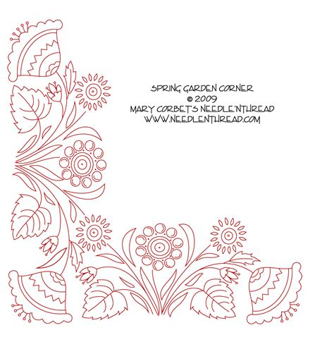 free embroidery designs free embroidery design garden corner