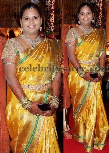 eyecatching yellow uppada silk sari saree blouse saris and saree