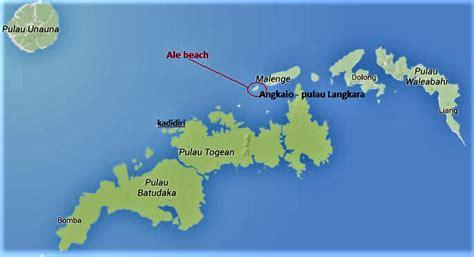 map  togean islands     ale beach info