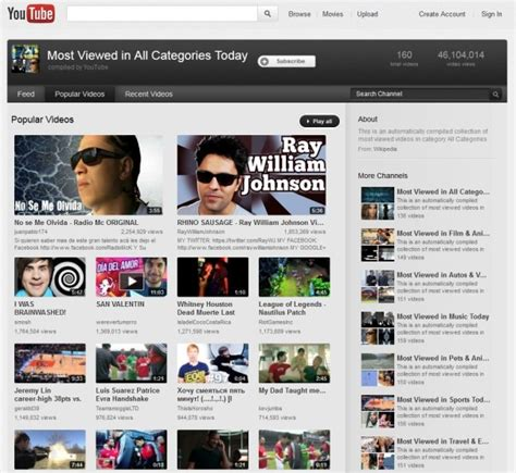 Is Youtube Trying To Erase The Past? Browse Page