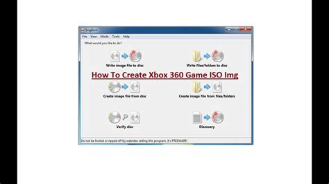 How To Create Xbox 360 Game Iso Image Youtube