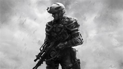 First Concept Art For Advanced Warfare Soldier Made In