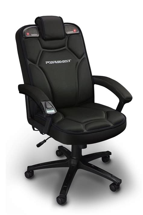 review pyramat wireless gaming chair rocks  spine illuminates  ears wired