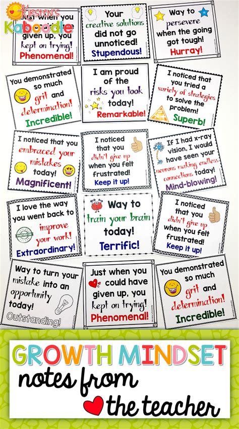growth mindset notes   teacher kirstens
