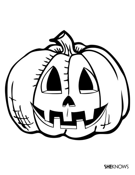 simple jack  lantern coloring home