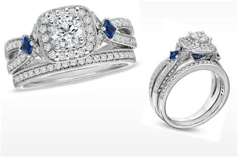 wedding ring sets vera wang vera wang engagement ring and sapphire wedding ring