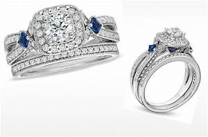 Vera wang love engagement ring diamond and sapphire for Vera wang wedding ring sets
