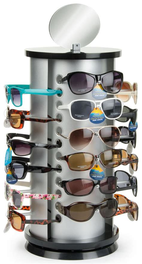 countertop sunglasses display rotating stand for 24 pairs
