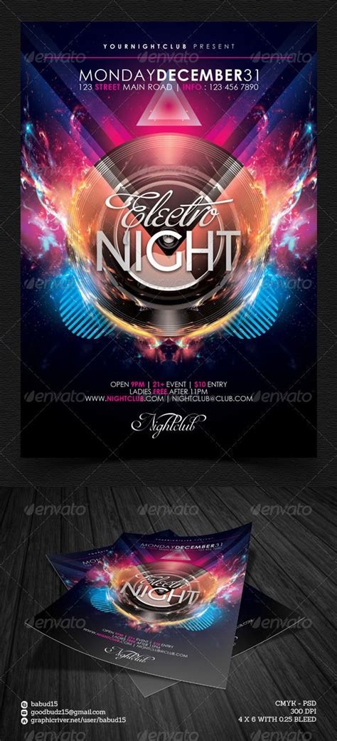 download graphicriver electro dj party flyer template 6502526 24 best sports flyer template images on pinterest party