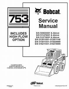 Bobcat 753 Hf Option Skid Steer Loader Service Manual Pdf