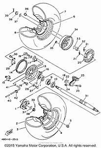 Rear Wheel For 1993 Yamaha Timberwolf 250