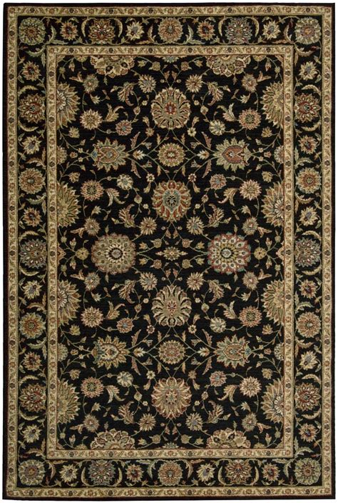 and black area rugs nourison living treasures li05 black traditional area rug 7659