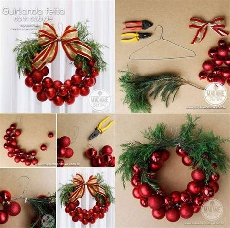 how to make a christmas wreath with ornaments invitation