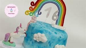 Einhorn Torte Glitterbakery YouTube