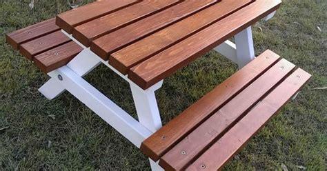 years quality handmade kids timber picnic table