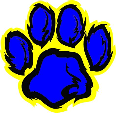 Tiger Paw Clip Blue Tiger Paw Clip At Clker Vector Clip