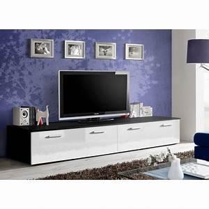 Meuble Chambre Pas Cher : meuble tv bas 2 m pas cher marty 1 cbc meubles ~ Teatrodelosmanantiales.com Idées de Décoration