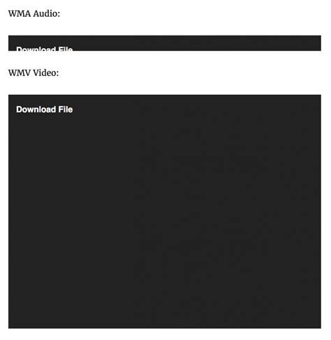 mediaelement  wordpress core