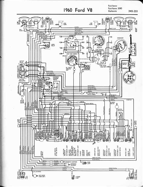 1966 Ford Galaxie Ignition Wiring Diagram by 1960 Ford V8 Fairlane 500 Galaxie Wiring Diagram 59523