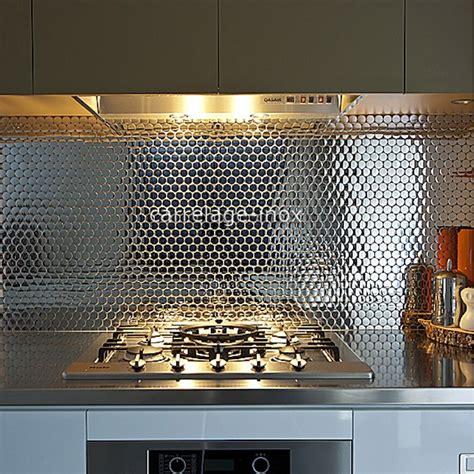 plaque cuisine inox mosaique et carrelage inox faience cuisine loop