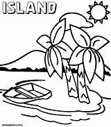 Island Coloring Pages sketch template