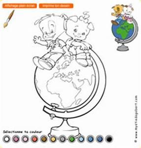 Globe Terrestre Pour Enfant : coloriage enfants du monde ~ Teatrodelosmanantiales.com Idées de Décoration