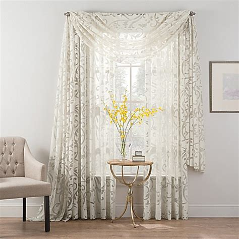 Sheer Window Treatments by Smart Sheer Insulated Burnout Voile Sheer Window