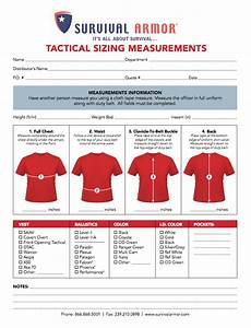 Sizing Charts For Body Armor Female Body Armor