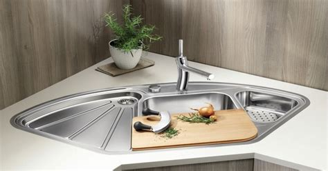 Corner Kitchen Sink  Efficient And Space Saving Ideas For