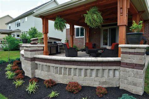 unilock patio designs unilock brussels dimensional wall and patio photos