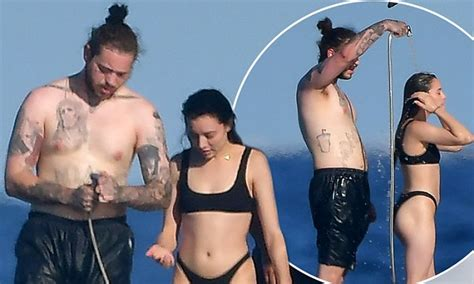 fish tank for office post malone and ashlen diaz relax on yacht in tropez