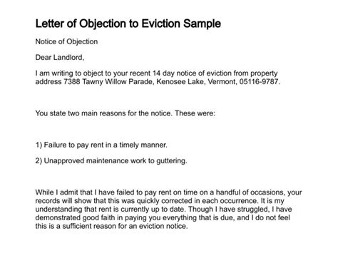 sample objection letter  council