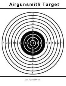 printable targets the villages air gun club