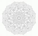 Coloring Flower Mandala Complex Printable Complicated Colour Adult Popular Coloringhome Template sketch template