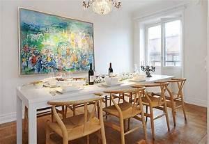 idee deco salle a manger ou la deco murale coloree prend vie With tableau salle a manger