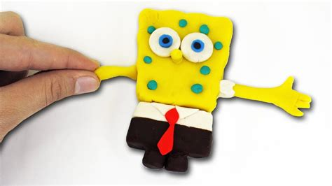 Spongebob squarepants Play doh STOP MOTION movie Bob