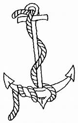 Anchor Coloring Pages Printable Drawing Navy Ship Rope Getdrawings Drawings Popular Clipartmag Coloringhome sketch template