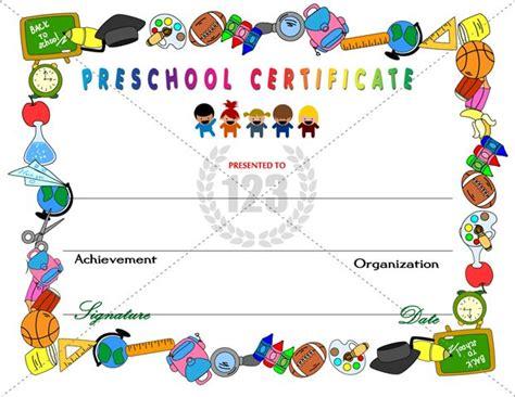 amazing preschool certificates   kids