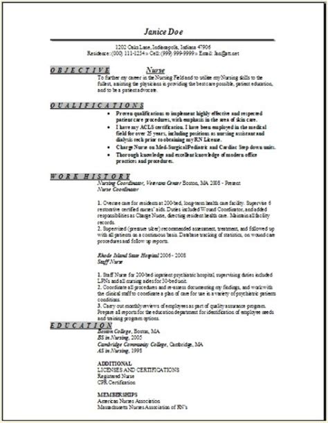 registered nurse resume sample occupationalexamples
