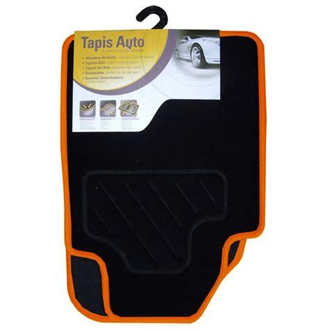 tapis orange et noir tapis voiture universel moquette noir surjet orange feu vert