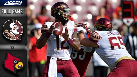 florida state  louisville full game  acc football