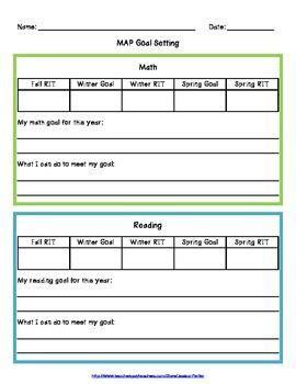 nwea map goal setting worksheet map goal setting