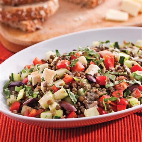 salade de lentilles à la méditerranéenne recettes