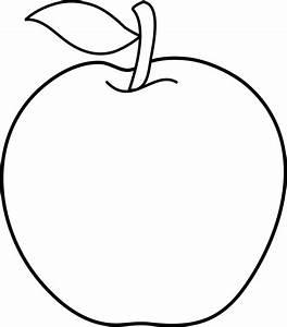 Black And White Apple Clip Art - Clipartion.com