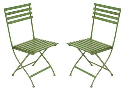 Green Metal Garden Chairs pair of metal folding garden dining chairs in green pair
