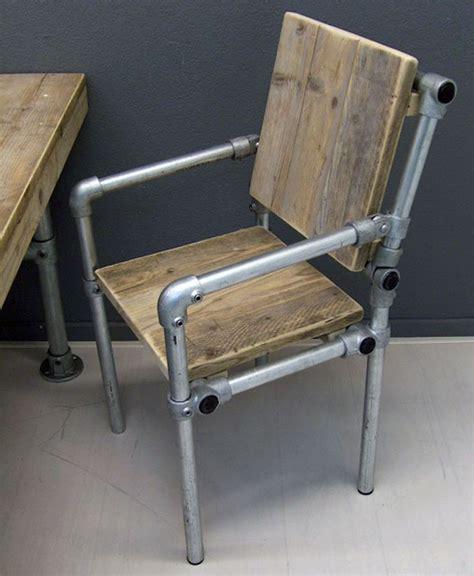 chaise style industriel pas cher atlub