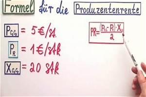 Kalkulationsfaktor Berechnen : video produzentenrente formel und berechnung ~ Themetempest.com Abrechnung