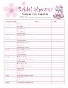 Printable checklists bridal shower checklist for Wedding shower checklist