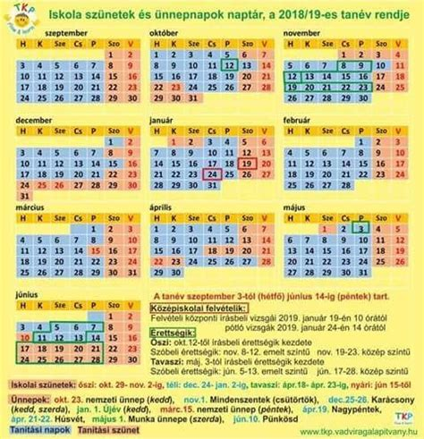 naptar hetekkel calendars