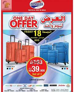 American Tourister Kuwait One Day Offer Friday 18th Dec